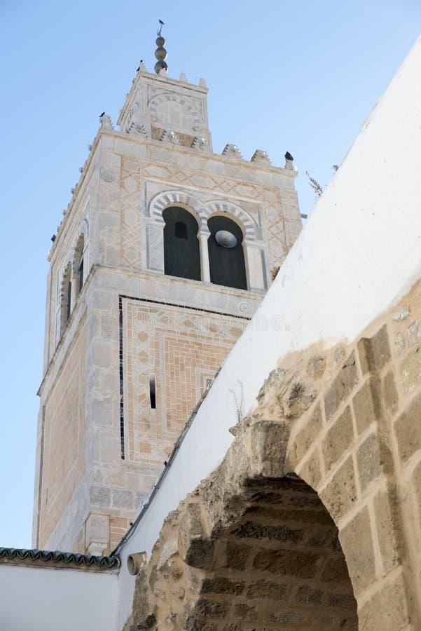 Mezquita del al-Zaytuna, Túnez fotografía de archivo