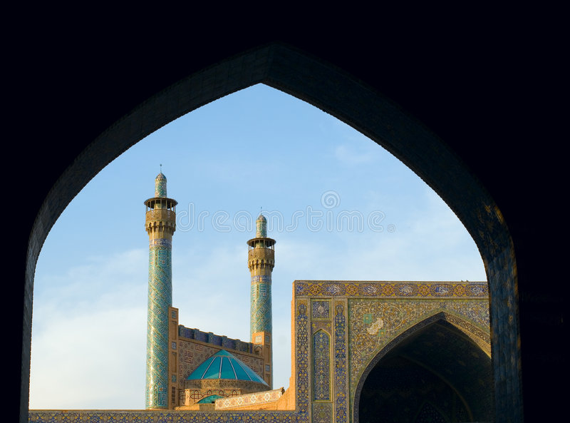 Mezquita del imán, Isfahán, Irán imagenes de archivo
