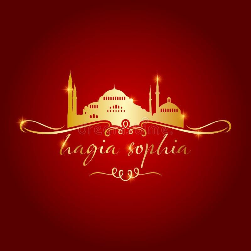 Mezquita del sophia del hagia de Estambul ilustración del vector