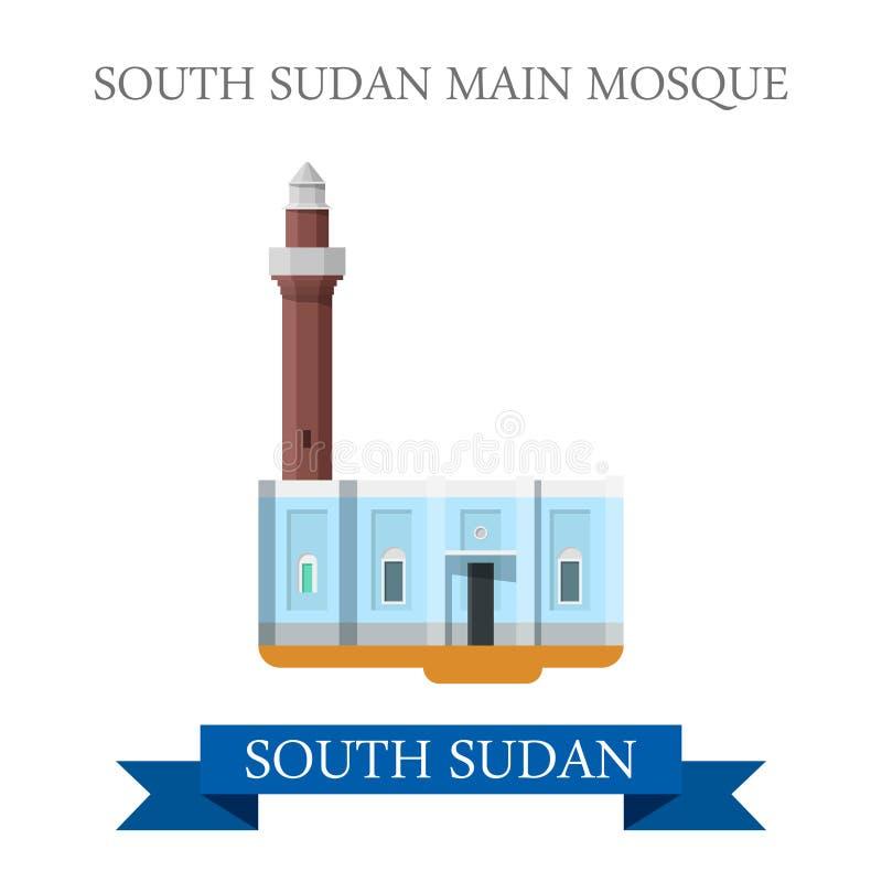 Mezquita del sur de la tubería de Sudán Vector histórico plano del web ilustración del vector