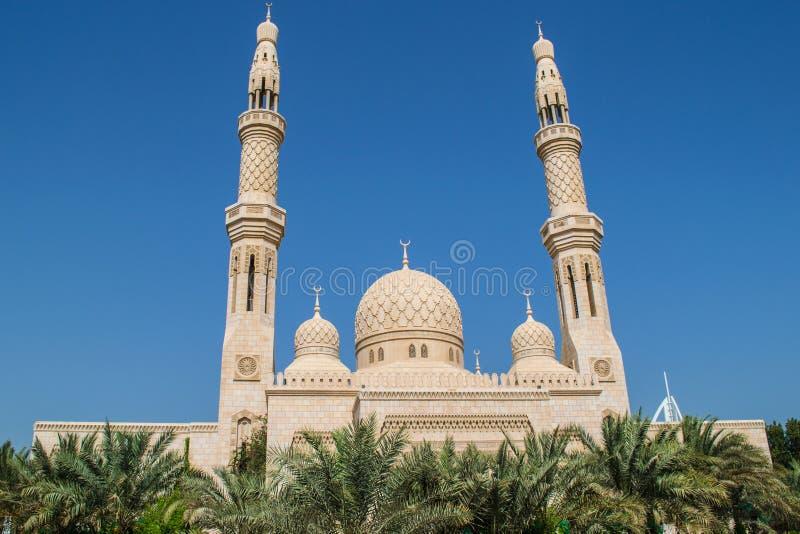 Mezquita Dubai de Jumeirah imágenes de archivo libres de regalías