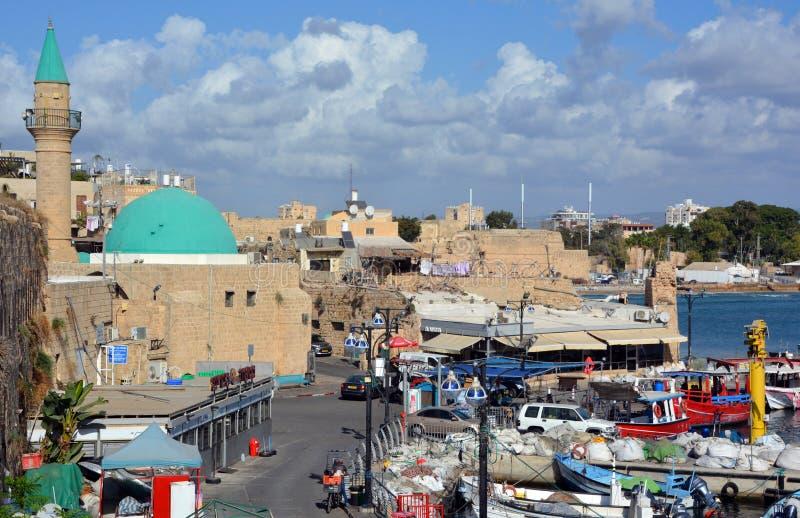 Mezquita EL-Jazzar imagen de archivo libre de regalías