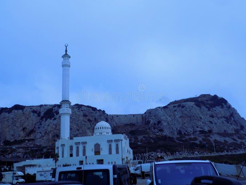 Mezquita en punto del Europa gibraltar fotografía de archivo