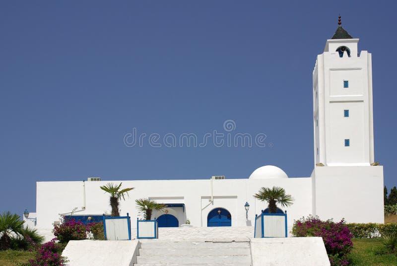 Mezquita en Sidi Bou dicho, Túnez en África fotografía de archivo