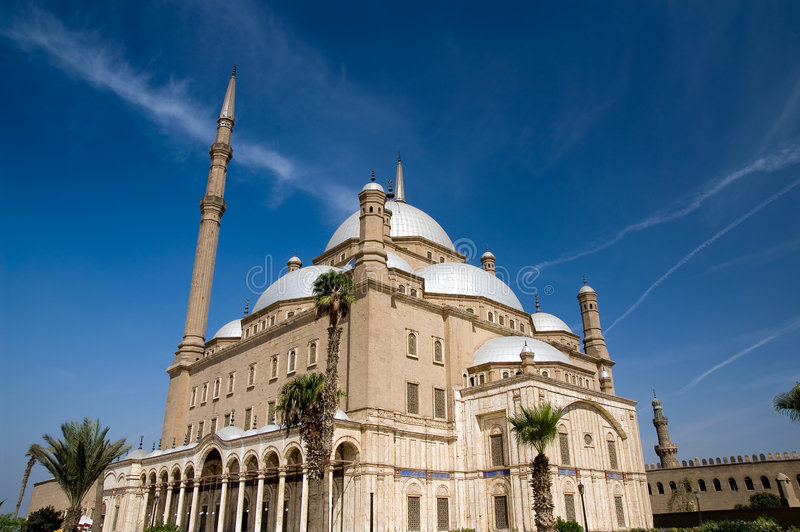 Mezquita famosa de Mohamed Ali imagen de archivo libre de regalías