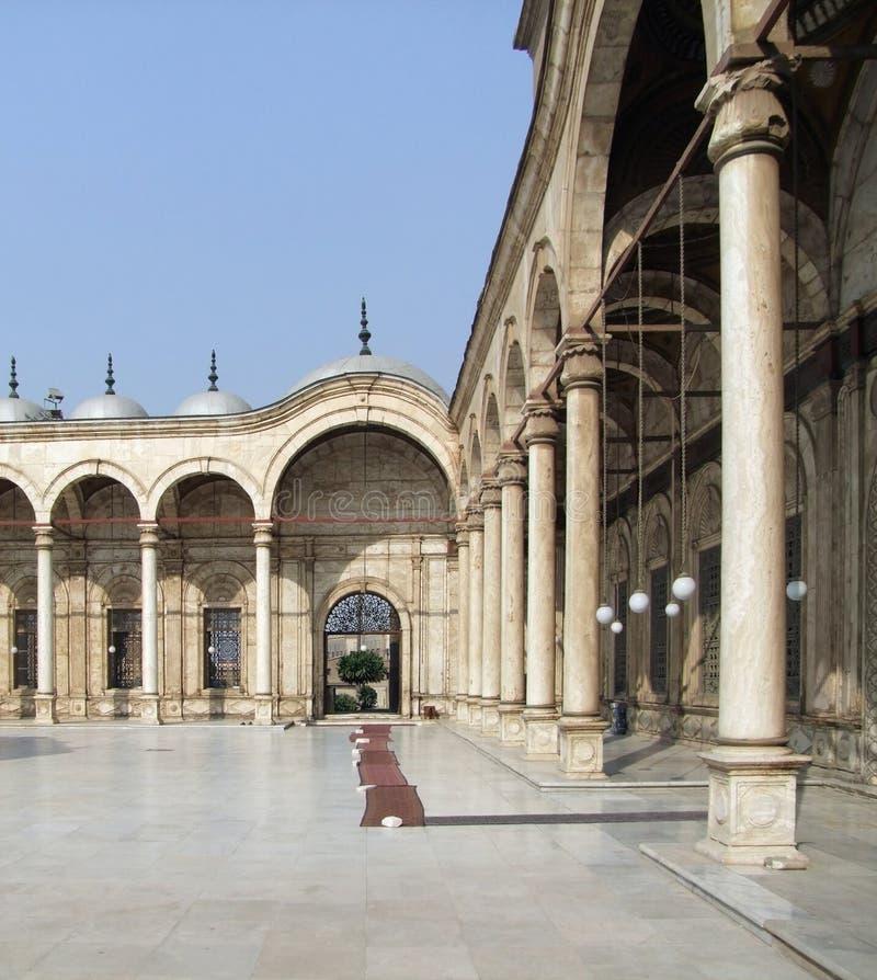 Mezquita interior de Mohamed Ali imagen de archivo