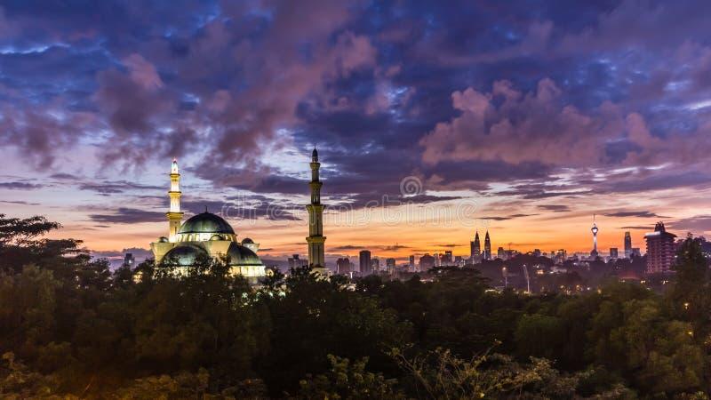 Mezquita Kuala Lumpur, Malasia del territorio federal fotografía de archivo