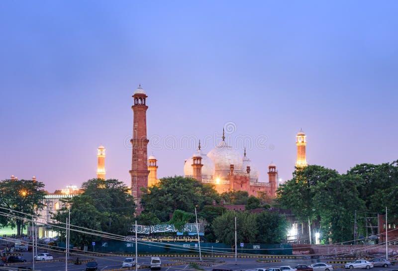Mezquita Lahore Paquistán de Badshahi imagen de archivo