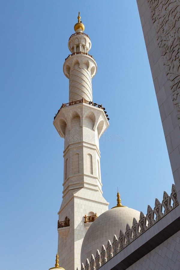 Mezquita magnífica de Abu Dhabi, UAE foto de archivo