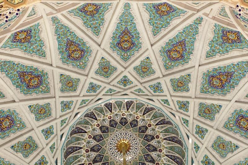 Mezquita magnífica del moscatel, Omán fotos de archivo