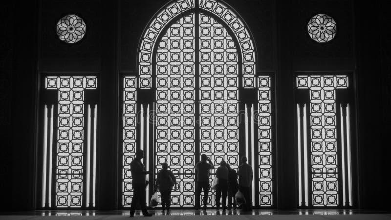 Mezquita magnífica en Casablanca imagenes de archivo