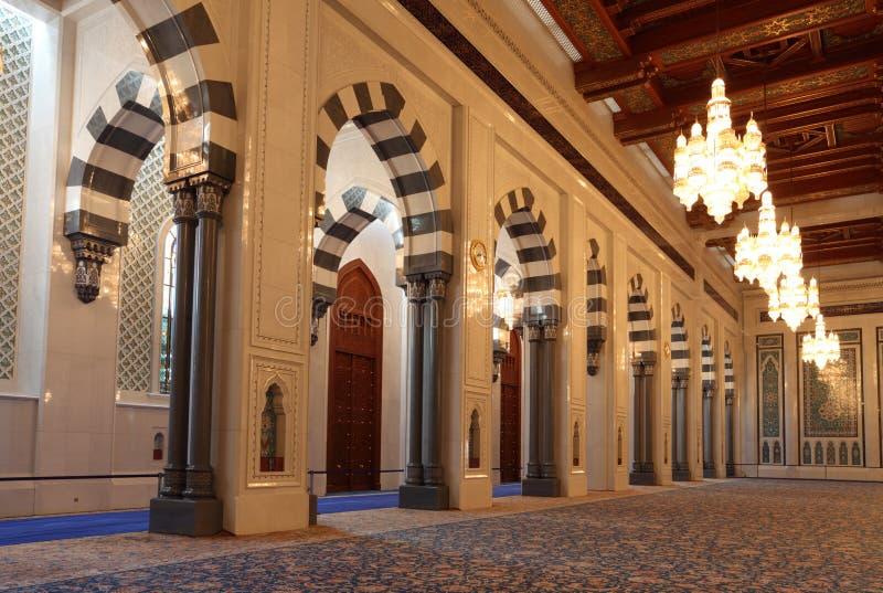 Mezquita magnífica en el moscatel, Omán foto de archivo libre de regalías