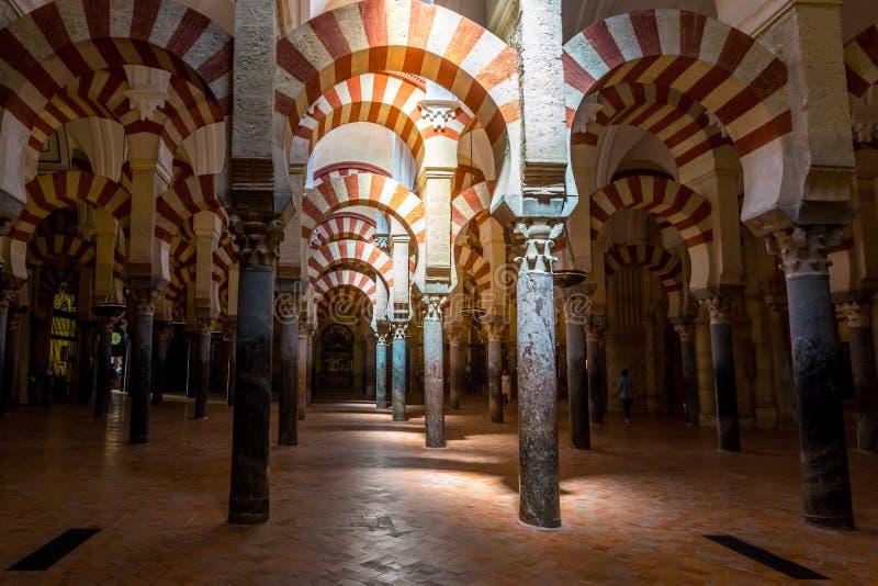 Mezquita Moskeekathedraal Cordoba Spanje stock foto