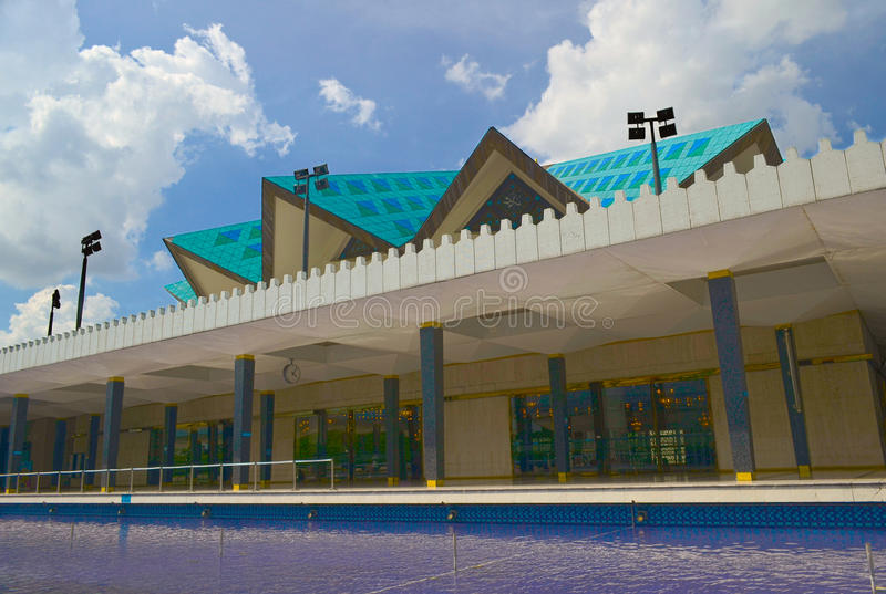 Mezquita nacional de Kuala Lumpur, Malasia imagen de archivo