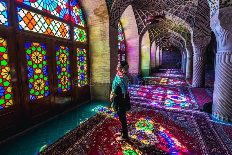 Mezquita rosada en Irán fotografía de archivo libre de regalías