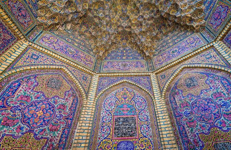 Mezquita rosada en Shiraz fotografía de archivo