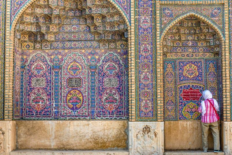 Mezquita rosada en Shiraz fotos de archivo
