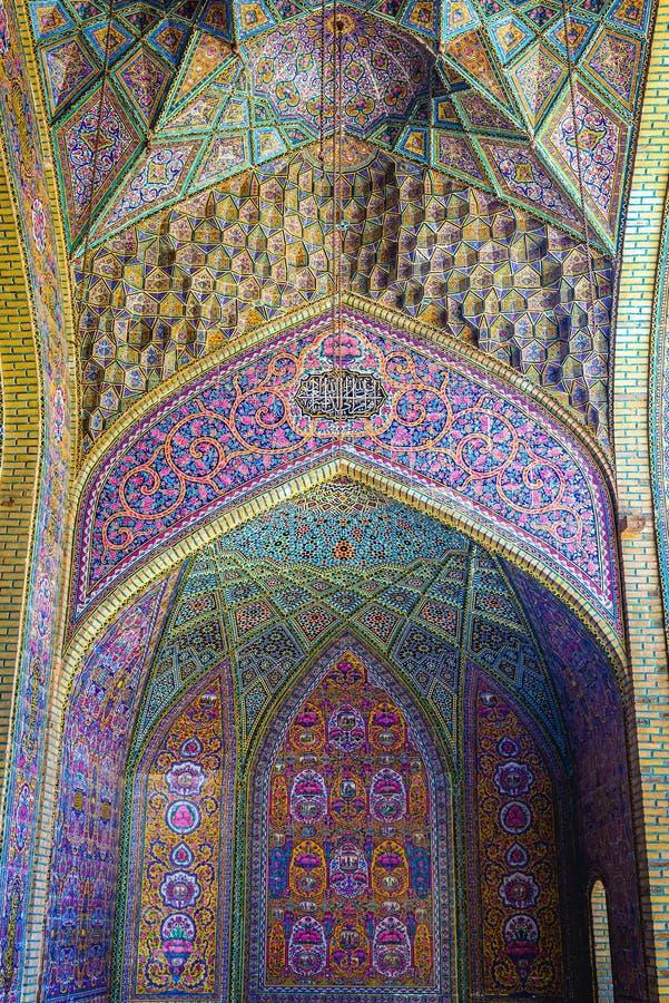 Mezquita rosada en Shiraz foto de archivo