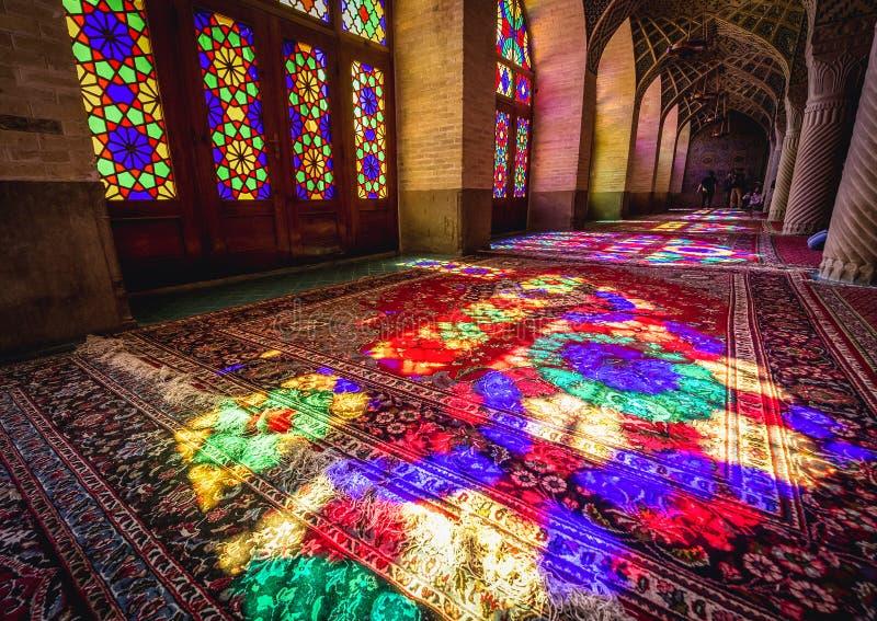 Mezquita rosada en Shiraz foto de archivo libre de regalías