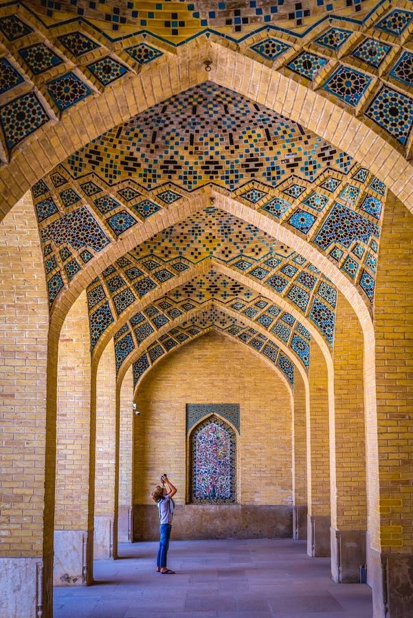Mezquita rosada en Shiraz fotos de archivo libres de regalías