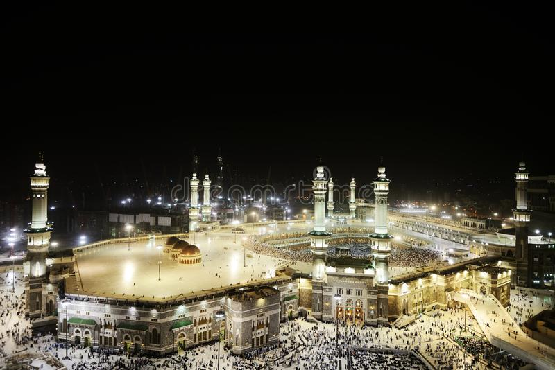 Mezquita santa de Makkah Kaaba imagen de archivo