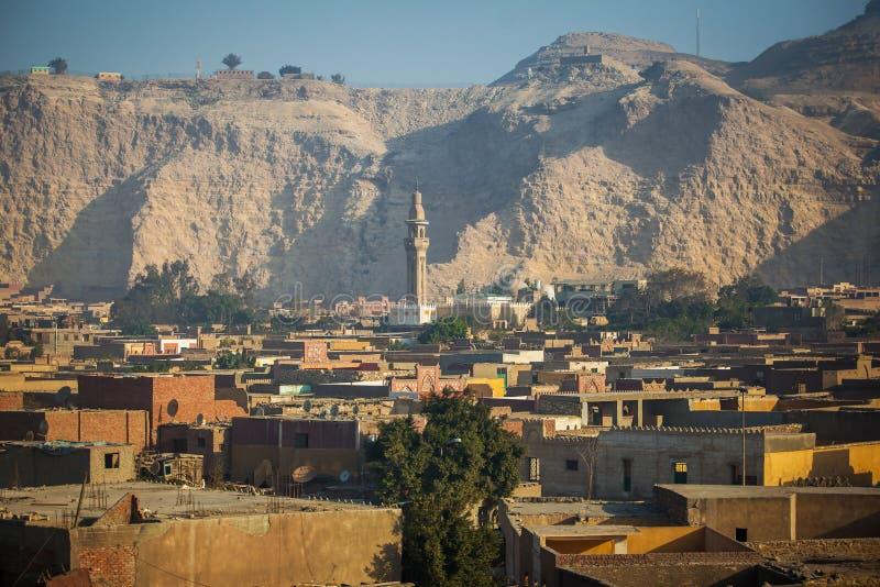 Mezquitas en la ciudad de El Cairo del paisaje de Egipto imagen de archivo libre de regalías