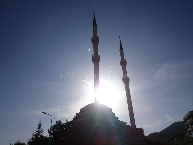 mezquitas y sol imagen de archivo libre de regalías
