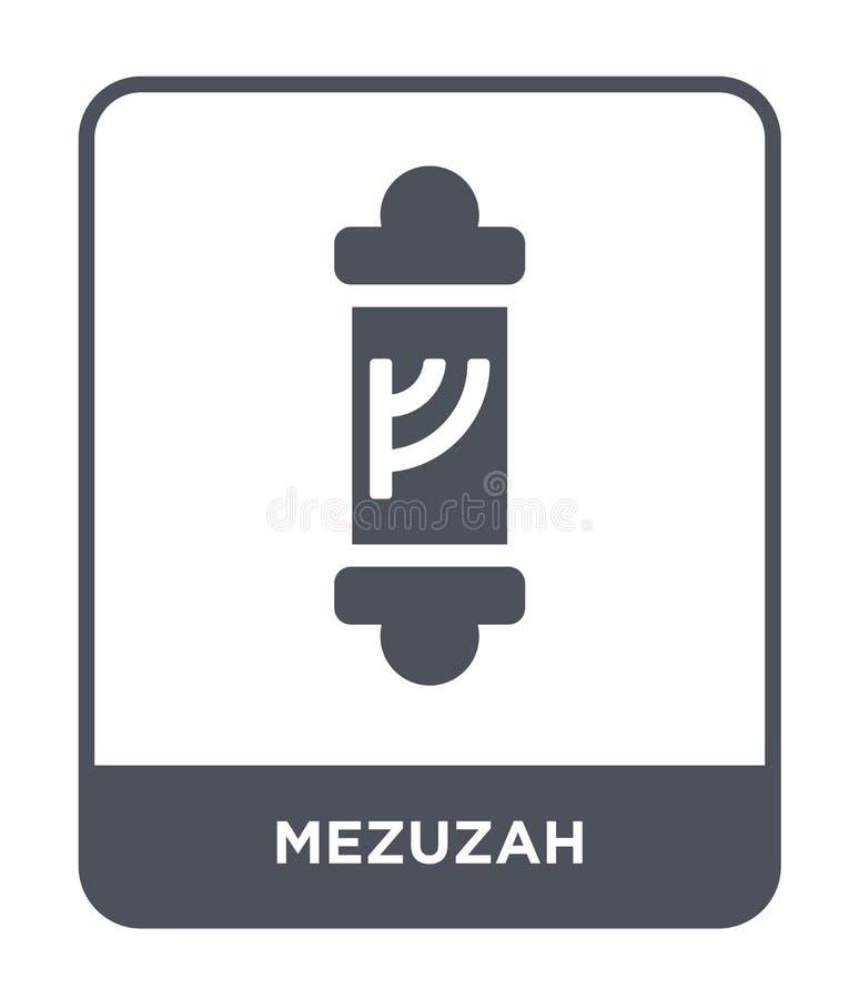 mezuzah εικονίδιο στο καθιερώνον τη μόδα ύφος σχεδίου mezuzah εικονίδιο που απομονώνεται στο άσπρο υπόβαθρο mezuzah διανυσματικό  διανυσματική απεικόνιση