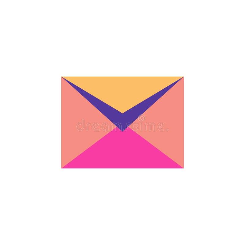 Mezza busta postale aperta su fondo bianco illustrazione di stock