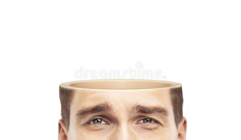 Mezza testa immagine stock
