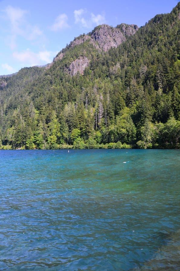 Mezzaluna del lago fotografia stock