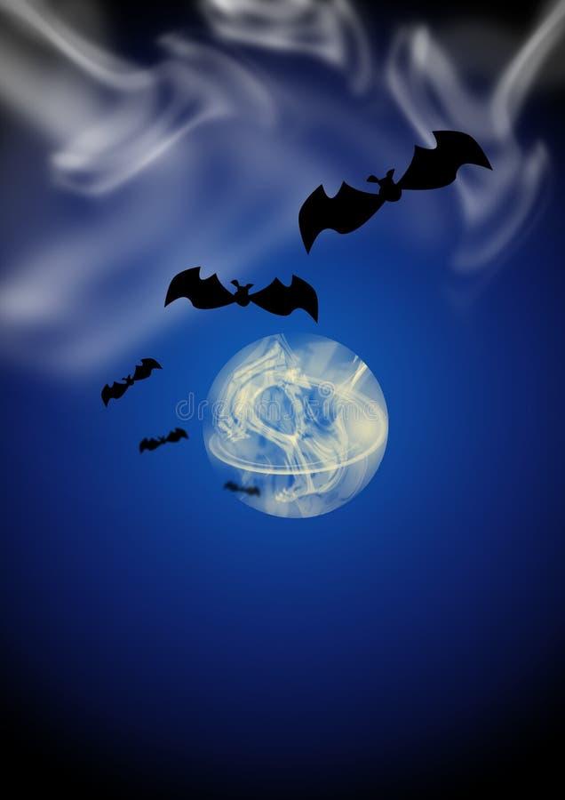 Mezzanotte su Halloween fotografia stock