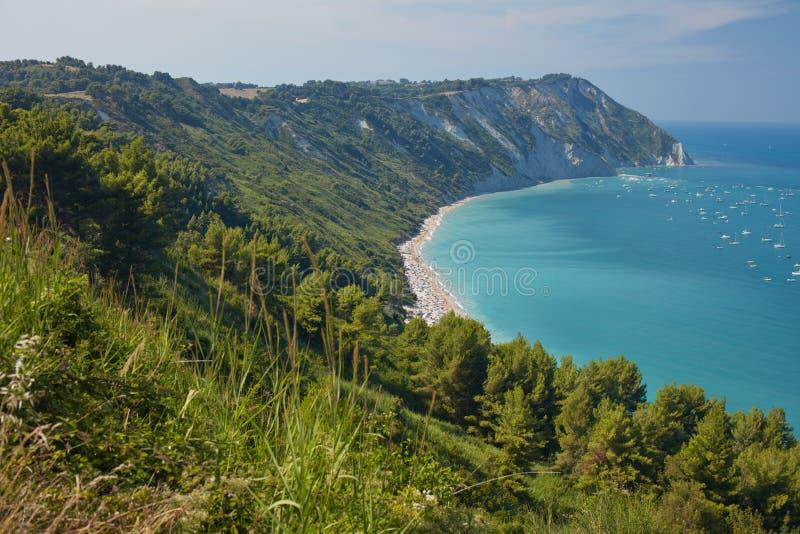 Mezzavalle Beach on Italian Adriatic coast stock photos