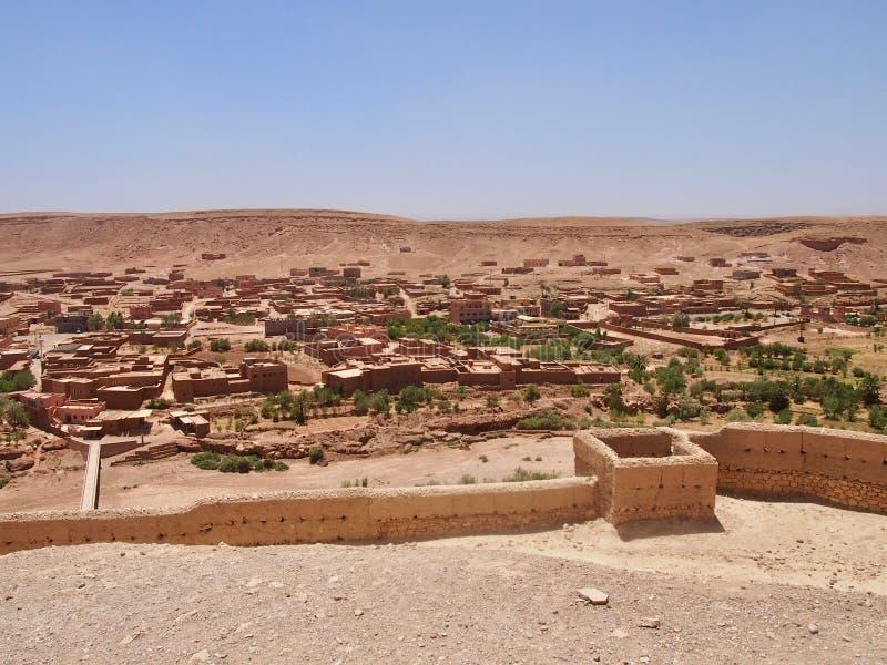 In mezzo ad Ait Benhaddou Ksar della città di AIT-Ben-Haddouold fotografia stock