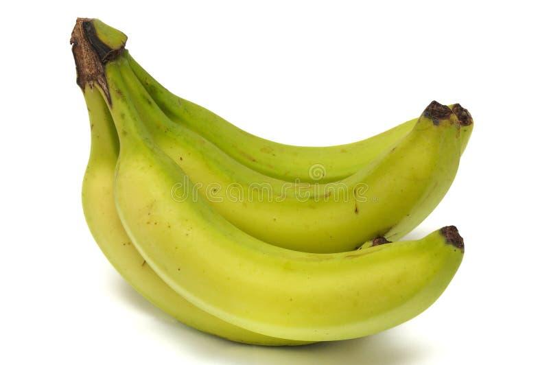 Mezzo casco di banane maturo fotografia stock libera da diritti