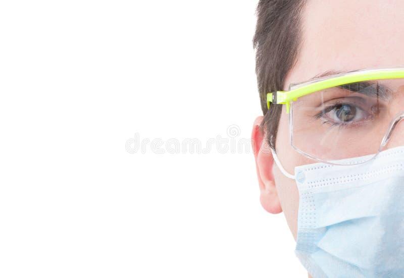 Mezzo fronte di un dentista maschio fotografie stock