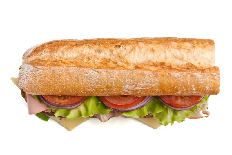 Mezzo panino delle baguette immagini stock libere da diritti