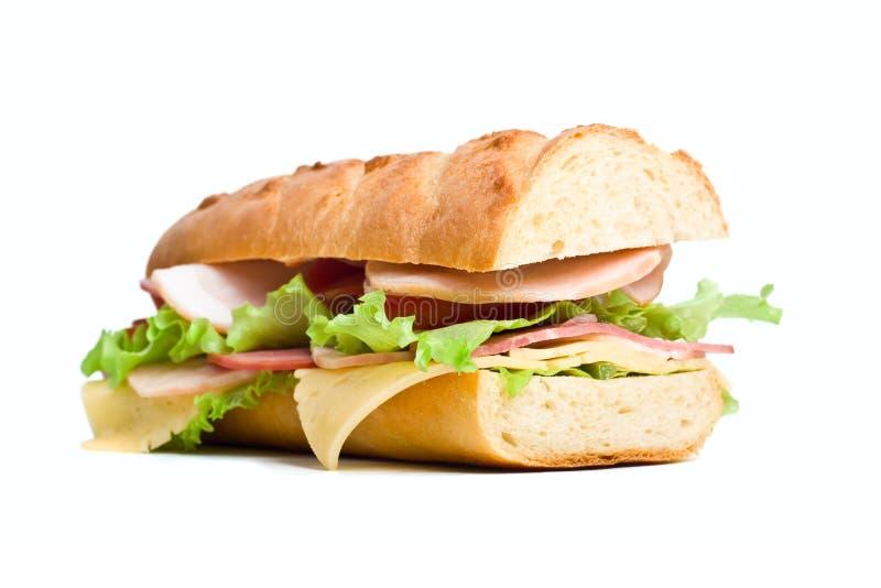 Mezzo panino delle baguette immagine stock libera da diritti