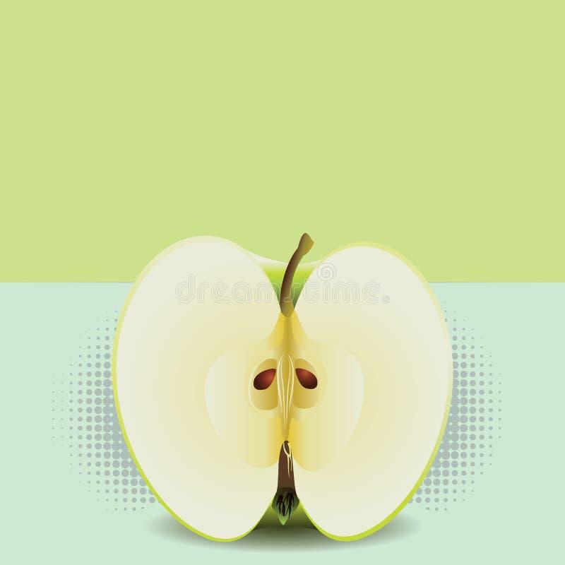 Mezzo Pop art di Apple illustrazione di stock