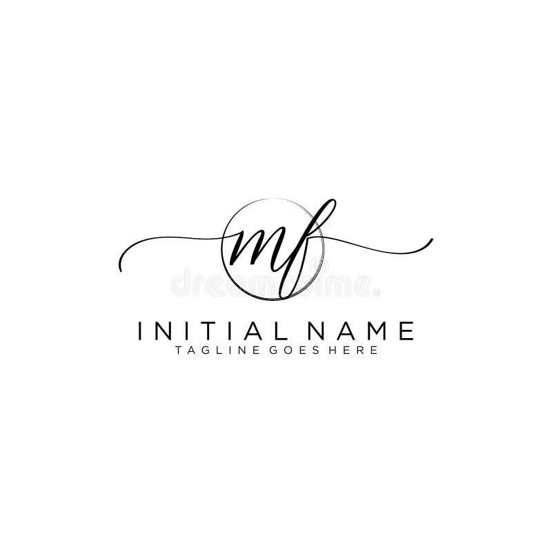 Free MF Beauty Vector Initial Logo, Handwriting Logo Of Initial Signature Royalty Free Stock Image - 160999516