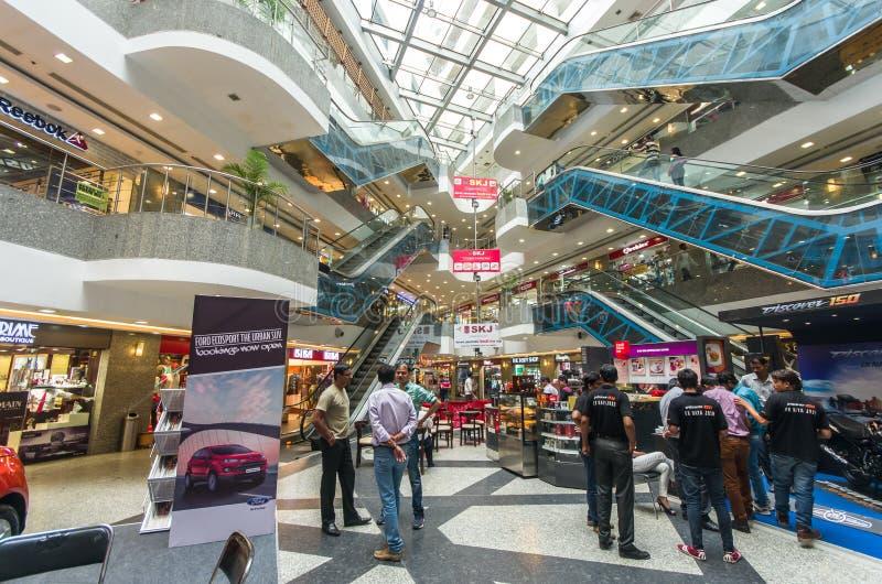 MFG大城市购物中心的内部在斋浦尔,拉贾斯坦- Ind 库存照片