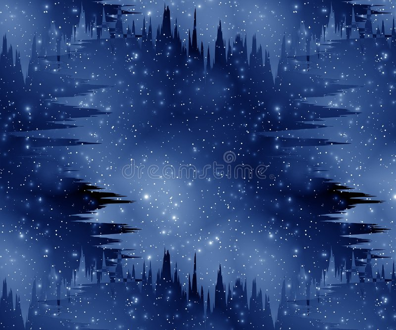 mgła galaktyki. royalty ilustracja
