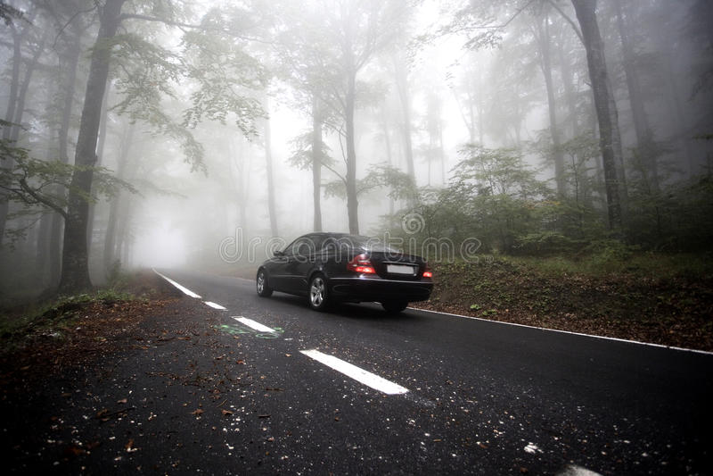 Mgła na drodze fotografia royalty free