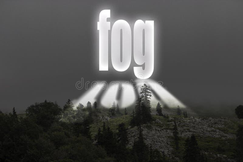 Mgła na górze góry royalty ilustracja