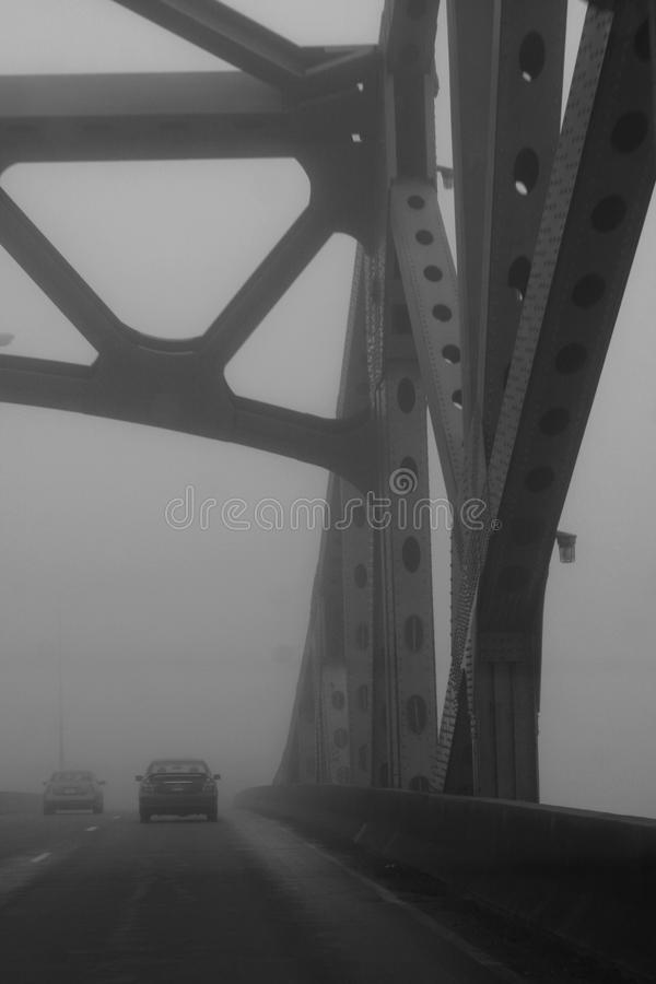 Mgła na moscie fotografia royalty free