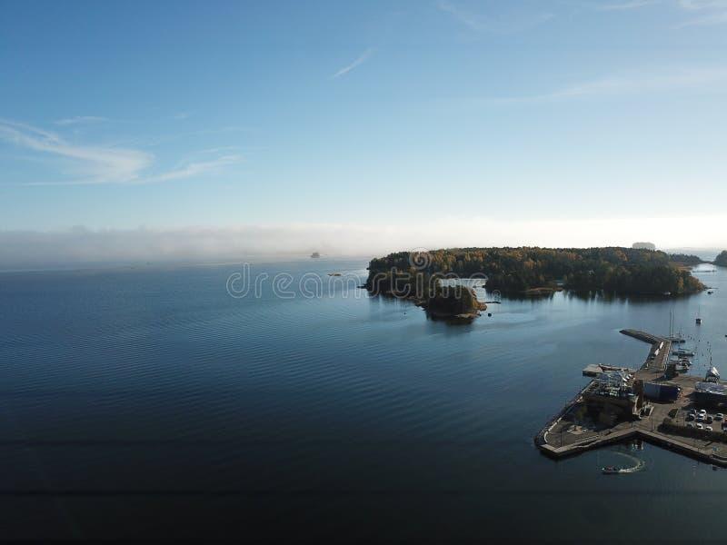 Mgła przychodzi od morza zdjęcia stock