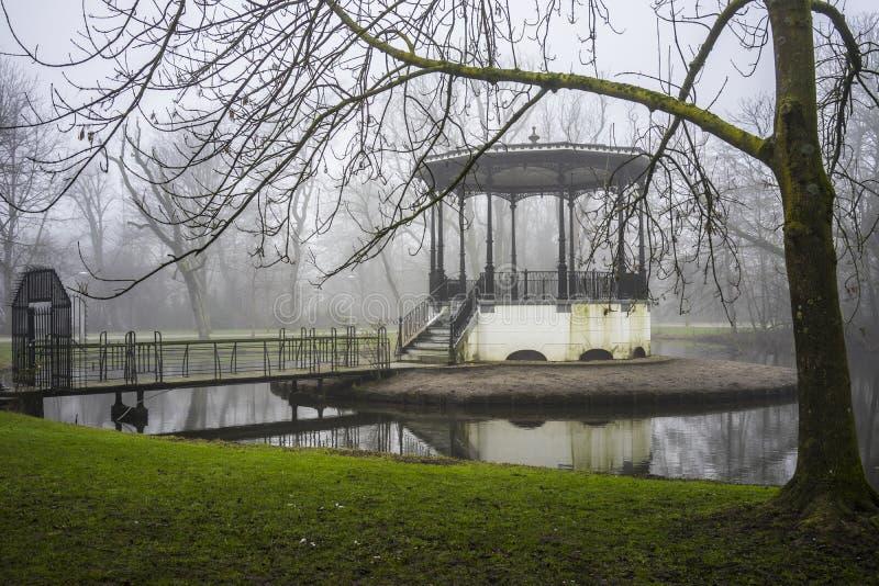 Mgła w Amsterdam zdjęcia royalty free