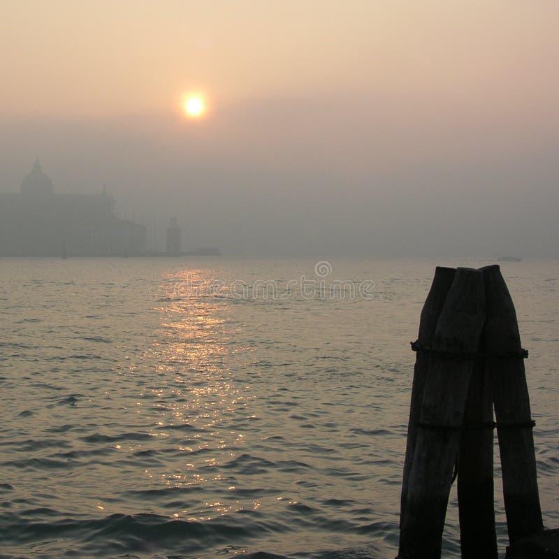 mgła Wenecji dnia obrazy stock