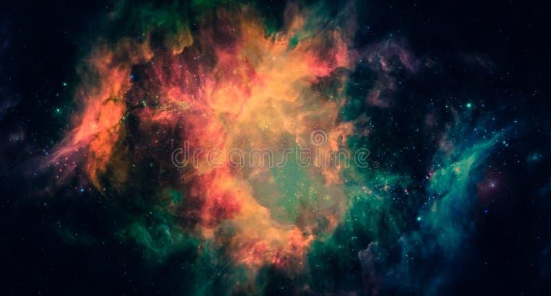 Mgławica i galaxies w przestrzeni fotografia royalty free