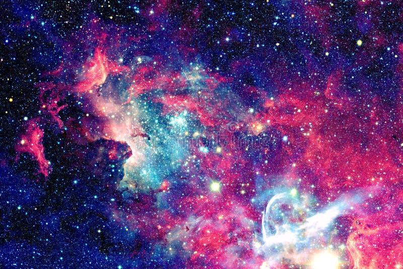 Mgławica i gwiazdy w głębokiej przestrzeni obrazy stock